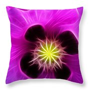 Poppy In Pink Throw Pillow