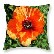 Poppy Blossom Throw Pillow