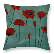 Poppy Love Throw Pillow