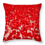 Poppy Meadow ... Throw Pillow