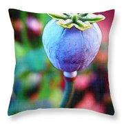 Poppy Pod Throw Pillow