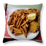 Popular Argentine Breaded-meat Dish Throw Pillow