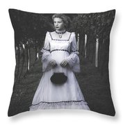 Porcelain Doll Throw Pillow