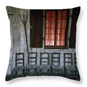 Porch Of The Bolduc House Museum Throw Pillow