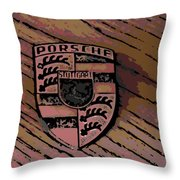 Porsche On Wood Throw Pillow