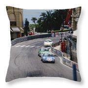 Porsches At Monte Carlo Casino Square Throw Pillow
