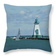 Port Dalhousie Lighthouse Throw Pillow