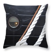 Port Hole Constellation Throw Pillow