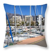 Port In Marbella Throw Pillow
