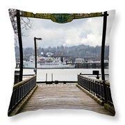 Port Of Newport Throw Pillow