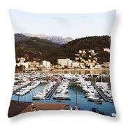 Port Of Soller Throw Pillow