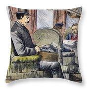 Portable Typewriter, 1889 Throw Pillow