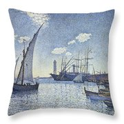 Porte De Cette Les Tartanes Throw Pillow