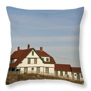 Portland Head Light Profile Throw Pillow