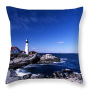Portland Head Offshore Throw Pillow