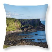 Portnaboe Bay At Giants Causeway Throw Pillow