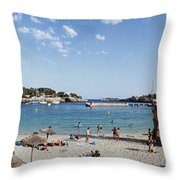 Porto Cristo Beach Throw Pillow