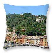 Portofino Hillside Throw Pillow