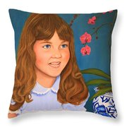 Portrail Of A Young Girl Throw Pillow