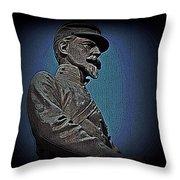 Portrait 29 American Civil War Throw Pillow