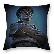 Portrait 33 American Civil War Throw Pillow