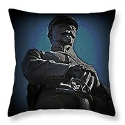 Portrait 36 American Civil War Throw Pillow