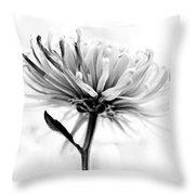 Portrait Of A Flower Throw Pillow