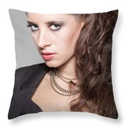 Portrait Of A Lady Throw Pillow by Ralf Kaiser