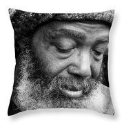 Portrait Of A Man In New Orleans Throw Pillow