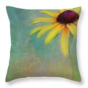 Portrait Of A Sunflower Throw Pillow