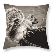 Portrait Of A Trash Picker Throw Pillow