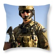 Portrait Of A U.s. Air Force Joint Throw Pillow