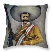 Portrait Of A Zapatista Throw Pillow
