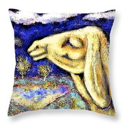 Portrait Of An African Sheep Throw Pillow