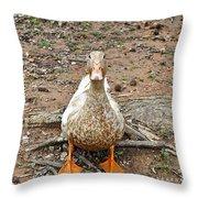Portrait Of An Alabama Duck Throw Pillow
