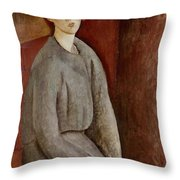 Portrait Of Annie Bjarne Throw Pillow
