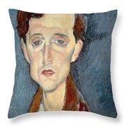 Portrait Of Franz Hellens Throw Pillow