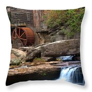 Portrait Of Glade Creek Mill Throw Pillow
