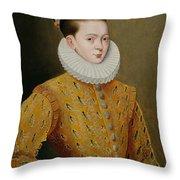 Portrait Of James I Of England And James Vi Of Scotland  Throw Pillow