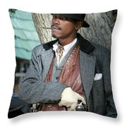 Portrait Of Kurupt Throw Pillow