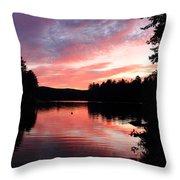 Portrait Of Lake Waukewan Throw Pillow