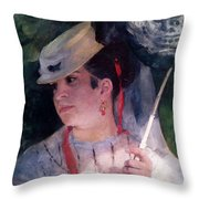 Portrait Of Lise Throw Pillow