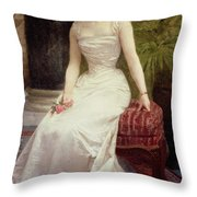 Portrait Of Madame Olry-roederer Throw Pillow by William-Adolphe Bouguereau