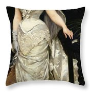 Portrait Of Mademoiselle X Throw Pillow