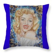 Portrait Of Marilyn Monroe Throw Pillow