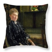 Portrait Of Mrs Ralph Sneyd Throw Pillow