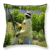 Portrait Of The Artist As A Scarecrow Throw Pillow