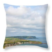 Portrait View Of White Park Bay Throw Pillow