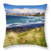 Portrush, Co Antrim, Ireland Seaside Throw Pillow
