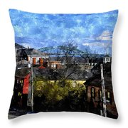Portsmouth Nh North End Pnewc Throw Pillow